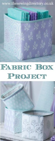 Sewing Fabric These fabric storage boxes fit around fat quarters in making them ideal for fabric storage. I have several in my sewing room! Easy Sewing Projects, Sewing Projects For Beginners, Sewing Hacks, Sewing Tutorials, Sewing Crafts, Bag Tutorials, Diy Crafts, Fabric Crafts, Tutorial Sewing