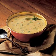 Wisconsin Cheese Soup...I will definitely be making some additions like celery and probably doubling this recipe.