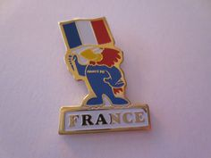 France 1998 FIFA Football World Cup in France Official Mascot Pin Badge  | eBay