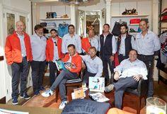 Presentación oficial de la tripulación del X35 en el Trofeo Conde de Godó. Canuda, 24, Barcelona