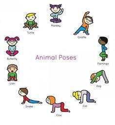 Йога для детей - позы в картинках