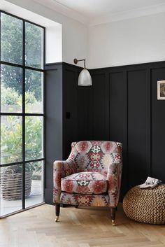 Home Interior Inspiration .Home Interior Inspiration Black Wainscoting, Dining Room Wainscoting, Wainscoting Styles, Wainscoting Height, Wainscoting Nursery, Painted Wainscoting, Wainscoting Panels, My Living Room, Living Room Decor