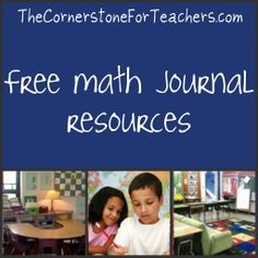 Free math journal resources: sample prompts for each grade level, tips on collecting/assessing, how to confer with students about their math journal writing, etc.