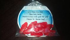 Happy Dr.Seuss Day treat! One Fish Two Fish