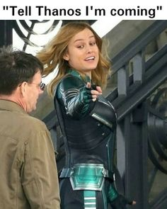 We get to see Captain Marvel twice next year! Her own movie and Avengers 🙌… – Andym We get to see Captain Marvel twice next year! Her own movie and Avengers 🙌… We get to see Captain Marvel twice next year! Her own movie and Avengers 🙌💛 Avengers Humor, Marvel Avengers, Marvel Comics, Marvel Funny, Marvel Memes, Thanos Marvel, Next Avengers, Loki Funny, Funny Memes