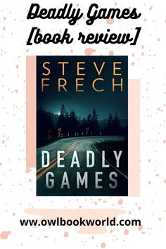 Deadly Games by Steve French is a thriller that will keep you on you toes. The book follows a bar tender who the police think is a murderer. But is he? Deadly Games is the perfect rainy day thriller.