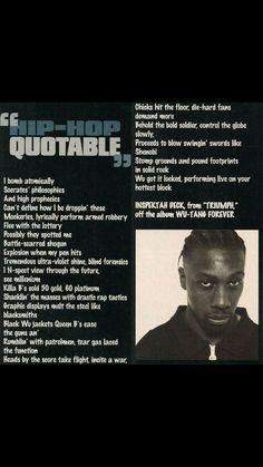90s Hip Hop, Hip Hop And R&b, Hip Hop Rap, Hip Hop Lyrics, Rap Lyrics, Ghostface Killah, Love And Hip, Inspirational Qoutes, Wu Tang Clan