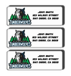 Minnesota Timberwolves NBA Basketball Team  Custom by DreamLabels, $5.00