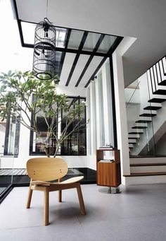 House Tour: Open-plan design and statement furniture in this semi-detached house - Home & Decor Singapore Semi Detached, Detached House, Oak Dining Table, Headboards For Beds, Plan Design, Open Plan, Living Area, Living Room, White Walls