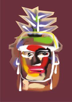 Índio das terras piauienses. Ilustração digital. Paulo Moura, 2012.