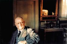 The only existing colour photography of Jean Sibelius. Photo George Von Wendt 1939.