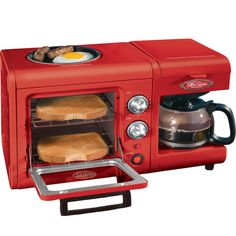 3 in 1 Breakfast Station Mini Toaster Oven Hot Plate Grill and Coffee Brewer | eBay