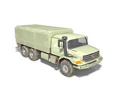Mercedes-Benz Zetros military truck 3d model