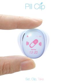 Pill Clip : Little Medicine Container with Alarm for Elderly People. Designers : Chaemin Ahn and Hoon Yoon | Tuvie