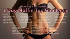 Diary of a Fit Mommy: 7 Day Muffin Top Weekly Workout Challenge - Bikini Fitness