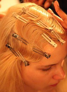 Pin curls create a 20's do'
