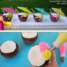 Cupcakes hawaiana
