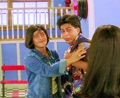 Seeing bae's friend looking cuter. | 31 Relatable Shah Rukh Khan GIFs For Everyday Situations