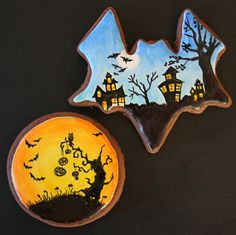 Halloween cookies By: artymcgoo  Repinned by: #TheCookieCutterCompany www.cookiecuttercompany.com #halloween #unique #decorated #cookies