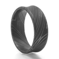 ONSLAUGHT Men's Damascus Steel Ring – Lashbrook – Men's Wedding Band
