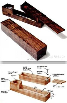Pencil Box Plans - Woodworking Plans and Projects | WoodArchivist.com