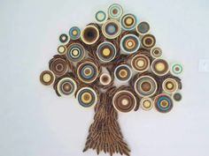 Wall decoration Modern wall hanging Abstract paper wall art Quilled tree home… Quilling Work, Quilling Craft, Quilling Ideas, Paper Wall Art, 3d Wall Art, Paper Paper, Cardboard Sculpture, Quilled Creations, Abstract Paper