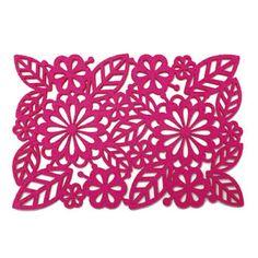 Alljoy Design Felt Pink Placemats << With matching coaster