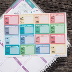 16 Flight Tracker Sticker Planner // Perfect for Erin Condren Life Planner (3.95 USD) by FasyShop
