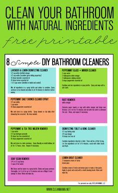 8 Simple DIY Bathroom Cleaners - Free Printable - Clean Mama