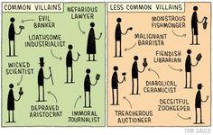 Common Villains vs Less Common Villains