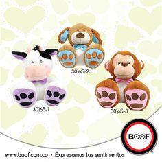Los peluches más tiernos para todos ¿Cuál te llevarías?  En www.boof.com.co hay muchos más