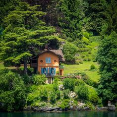 Fairy Tale Cottage on Lake Como, Lombardy, Italy Wonderful Places, Great Places, Beautiful Places, Villas, Places In Italy, Cabins And Cottages, Country Cottages, Lake Como, Decoration