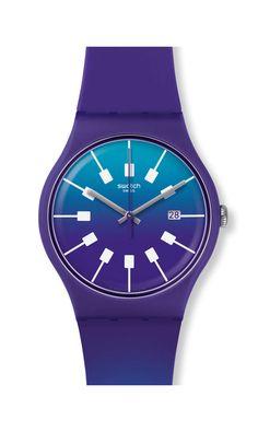 CRAZY SKY [ Prerelease Woman's Watches ~ Relojes de Mujer en Pre-lanzamiento ] Spring/Summer 2017 Originals New Gent -Action Heroes Collection * Swatch ^* Watch