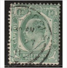 South Africa, Cape Hope Scott 63 - SG70, 1902 1/2d used stamps sur le France de eBid