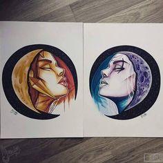 Leona and Diana Made by HyouKa #leagueoflegends #Leona #Diana #HyouKa