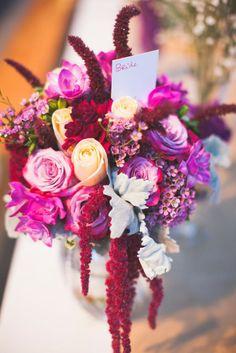 bride bouquet purple lavender peach