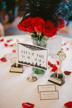 12 Best Oscar Party Centerpieces Images Hollywood Party Themed