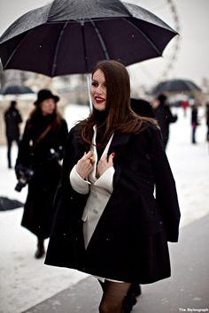 Laetitia Casta Paris Fashion Week 2013, #streetstyle