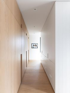 Canadian interior studio Sophie Burke Design (SBD) partner with Airey Group to shape an oceanfront site into a family's 'dream home'. White Oak Floors, White Walls, Wooden Windows, Windows And Doors, Shiplap Cladding, Painting Shiplap, Interior Architecture, Interior Design, Master Bedroom Closet