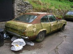Crusty Mk2 Ford Capri Abandoned Cars, Abandoned Vehicles, Abandoned Places, Mercury Capri, Car Barn, Ford Capri, Rusty Cars, Old Fords, Lifted Ford Trucks