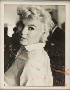 """Marilyn Monroe (missnormajeanes: """"I know when I am not there for...)"""