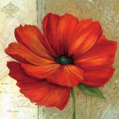 Posterazzi Papaver II Canvas Art - Pamela Gladding x Acrylic Flowers, Watercolor Flowers, Art Floral, Flower Canvas, Flower Art, Plant Drawing, Painting Inspiration, Beautiful Flowers, Fine Art Prints
