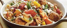 Here's a delicious Italian skillet dinner that features orzo, pork sausage, Green Giant® vegetables and Muir Glen® tomatoes - ready in 20 minutes.