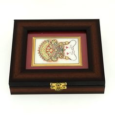 Wooden Jewelry Box with Indian Art on Marble Gifts for Mothers: ShalinCraft: Amazon.co.uk: Jewellery