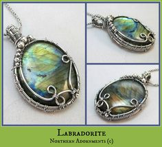 Labradorite wire woven pendant.  Check me out at www.northernadornments.com, video class available at www.craftsy.com/ext/DawnHorner_5026_F