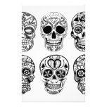 Dia de los Muertos Skulls (Day of the Dead) Stationery #halloween #happyhalloween #halloweenparty #halloweenmakeup #halloweencostume