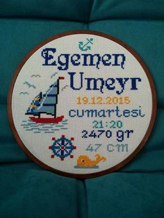 Cross Stitching, Cross Stitch Embroidery, Cross Stitch Patterns, Cross Stitch Sea, Birth Chart, Alphabet And Numbers, Holidays And Events, Baby Quilts, New Baby Products