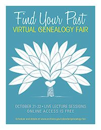 National Archives Virtual Genealogy Fair: October 21 and 22, 2015