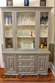 Hutch re-do (use chalk-paint for de-stressed look?)