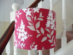 Drum lampshade in a raspberry floral print £37.50